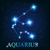 Vector of the aquarius zodiac sign of the beautiful bright stars — Stock Photo