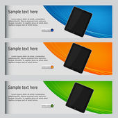 Vector website headers, tablet promotion banners — Stock Photo