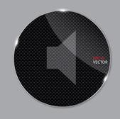 Media glass icon vector illustration — Stock Photo