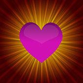 Shining heart — Stock Vector
