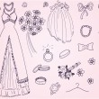 Royalty-Free Stock Vektorfiler: Wedding_set_01