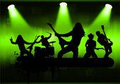 рок-группы — Cтоковый вектор