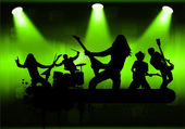 Rock band — Wektor stockowy