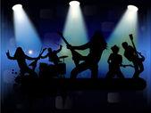 摇滚乐队 — 图库矢量图片