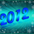 Happy New Year 2012 - Lizenzfreies Foto