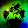 Palm tree — Vettoriali Stock