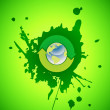 Vector environmental recycling icon grunge - Image vectorielle