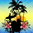 Tropical background - Stok Vektr