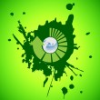 Vector environmental recycling icon grunge - Stok Vektr