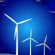 Windmill turbines - Vettoriali Stock 