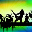Stock Vector: Rock band