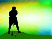 ゴルフのデザイン — ストックベクタ