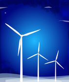 Turbines éoliennes — Vecteur