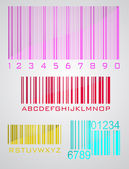 Bar code set — Vector de stock