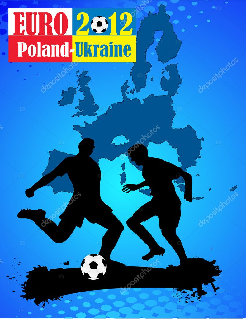 Vector design for Euro 2012 soccer cup — Stock Vector #8935062