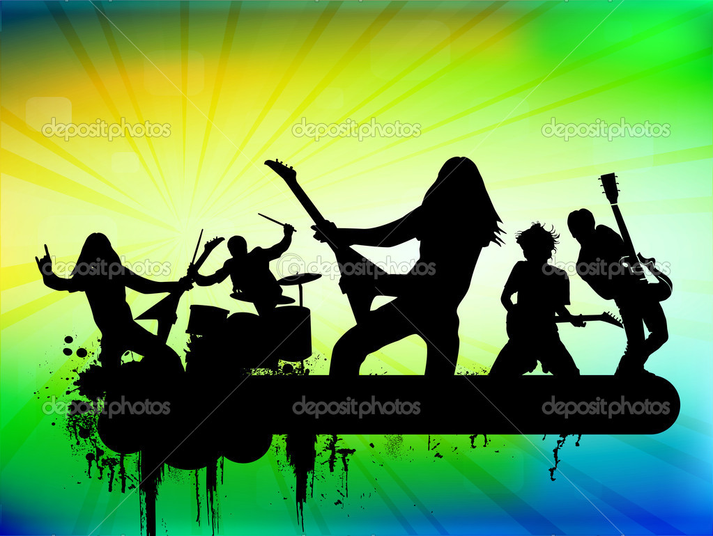 Rock band, vector illustration — Stock Vector #8935194
