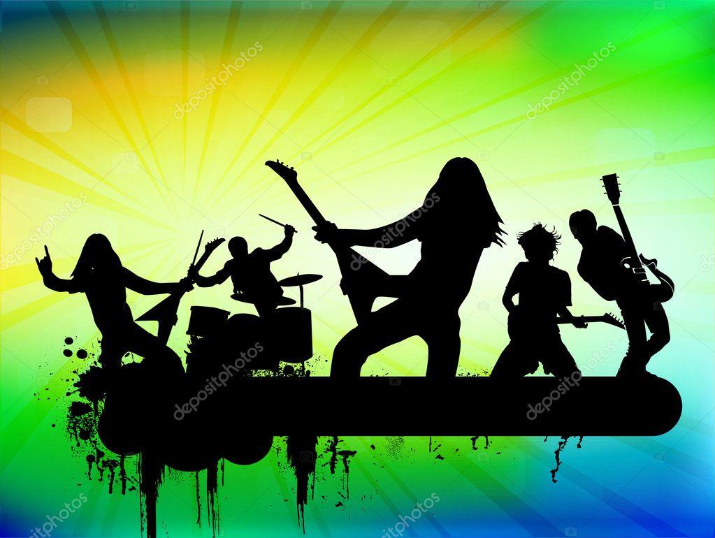 Rock band stock illustration