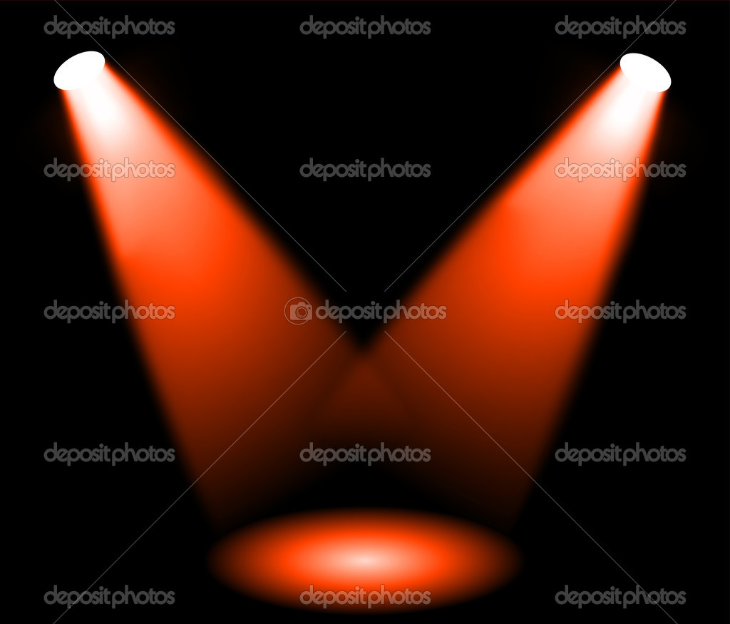 Stage lights  Stock Vector #9538150