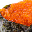 Tobiko Gunkan Sushi with Fish Roe — Stock Photo