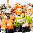 Sushi collage — Stock Photo