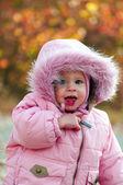 Ritratto di bambino piccolo carino all'aperto — Foto Stock