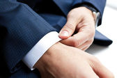 Closeup of businessman hands — Stok fotoğraf