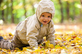 Little baby boy in the park — Stock Photo