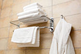 Towels and bathrobes — Stock Photo