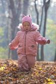 在公园里的小宝宝的肖像 — 图库照片