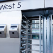 Closeup of security turnstile on stadium — Stock Photo