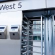 Closeup of security turnstile on stadium — Stock Photo #8858695