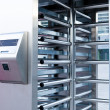 Stockfoto: Closeup of security turnstile on stadium
