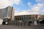 KYIV, UKRAINE - DECEMBER 11: Newly completed The Olympic Stadi — Stok fotoğraf