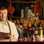 Barman at work - indoors — Stock Photo
