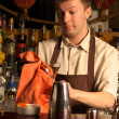 Stock Photo: Barman at work - indoors