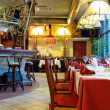 restaurant italien avec un intérieur traditionnel — Photo