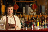 Barman at work - indoors — Stock Photo