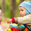 Portrait of the little boy and girl — Stock Photo #9019884