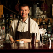 Stock Photo: Barman at work