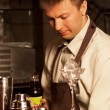 Barman at work — Stock Photo