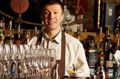 Barman at work — Stock Photo