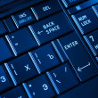 Stock Photo: Closeup of a dark keyboard