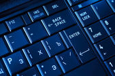 Closeup of a dark keyboard — Stockfoto