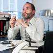 Pensive businessman — Stock Photo