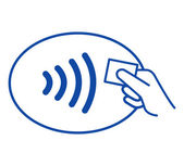 NFC - Near field communication / easy pay — Stock Photo