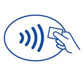 NFC - Near field communication / easy pay — Stock Photo