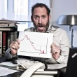 Stock Photo: Businessmin Panic