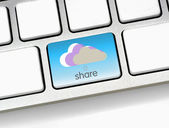 Share to cloud — Stock Photo