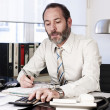 Businessman calculating finance - Photo