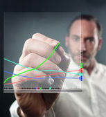 Virtual Diagram — Stock Photo